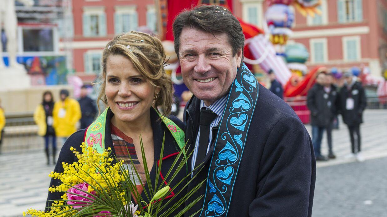 PHOTOS Christian Estrosi et sa femme Laura Tenoudji (Télématin) très amoureux au carnaval de Nice