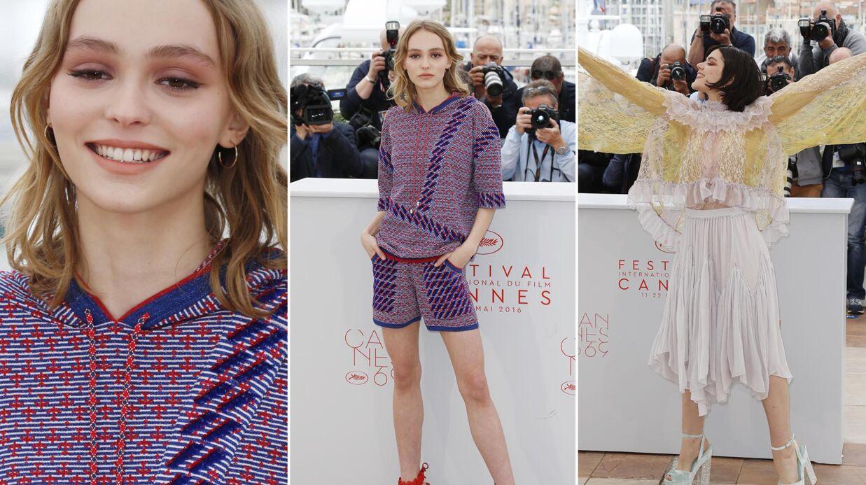 PHOTOS Cannes 2016: Lily-Rose Depp irrésistible, Soko déchaînée en top transparent pour leur film