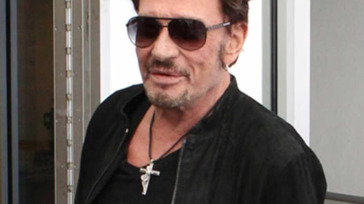 Johnny Hallyday invite Stéphane Delajoux à son concert