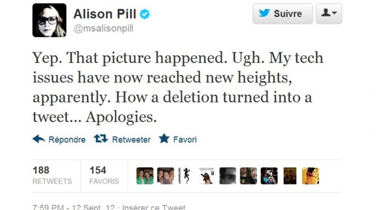 Alison Pill de The Newsroom topless sur Twitter (par erreur)