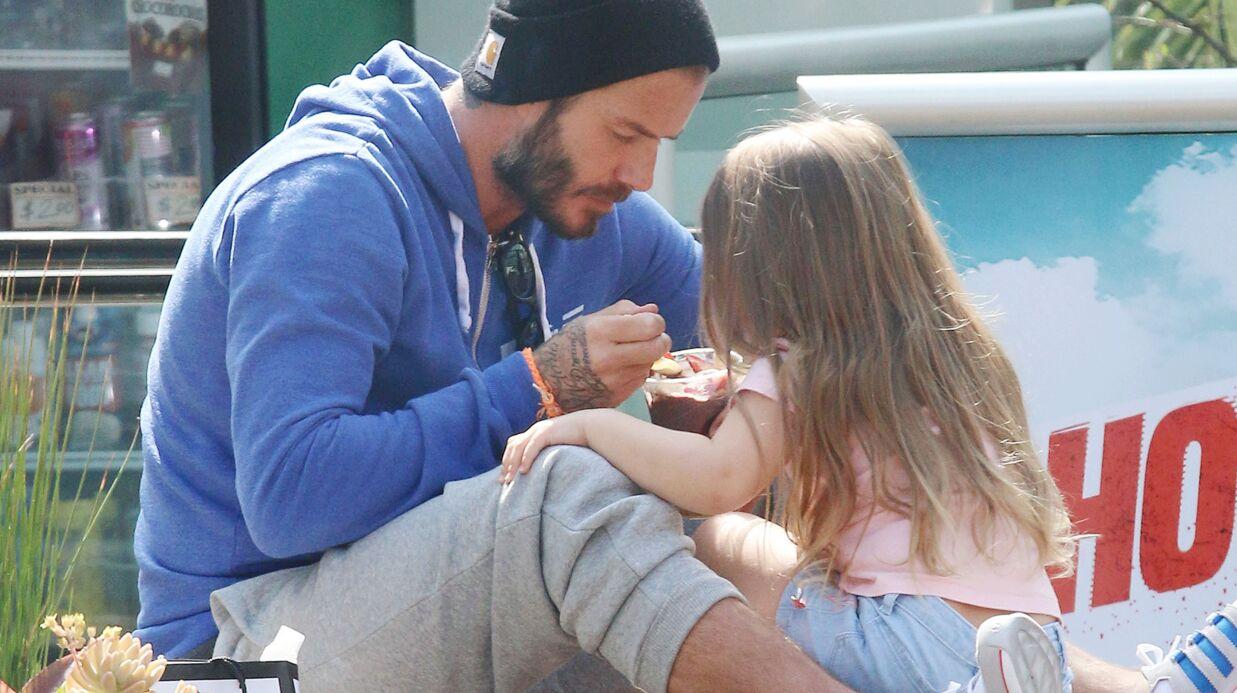 PHOTOS David Beckham fait une pause tendresse et crème glacée avec sa fille Harper