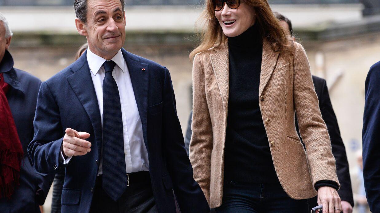 PHOTOS Carla Bruni-Sarkozy a son mari et sa fille en photo jusque sur sa coque de téléphone