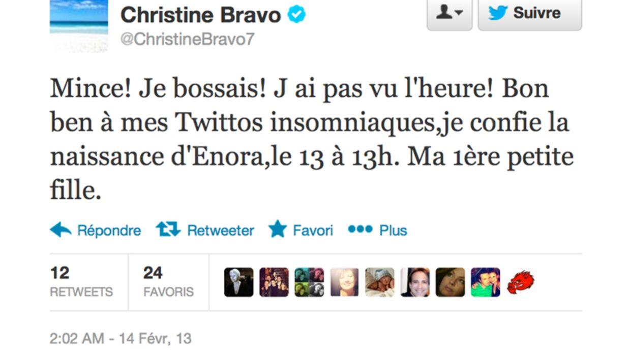 Christine Bravo devient grand-mère d'une petite fille