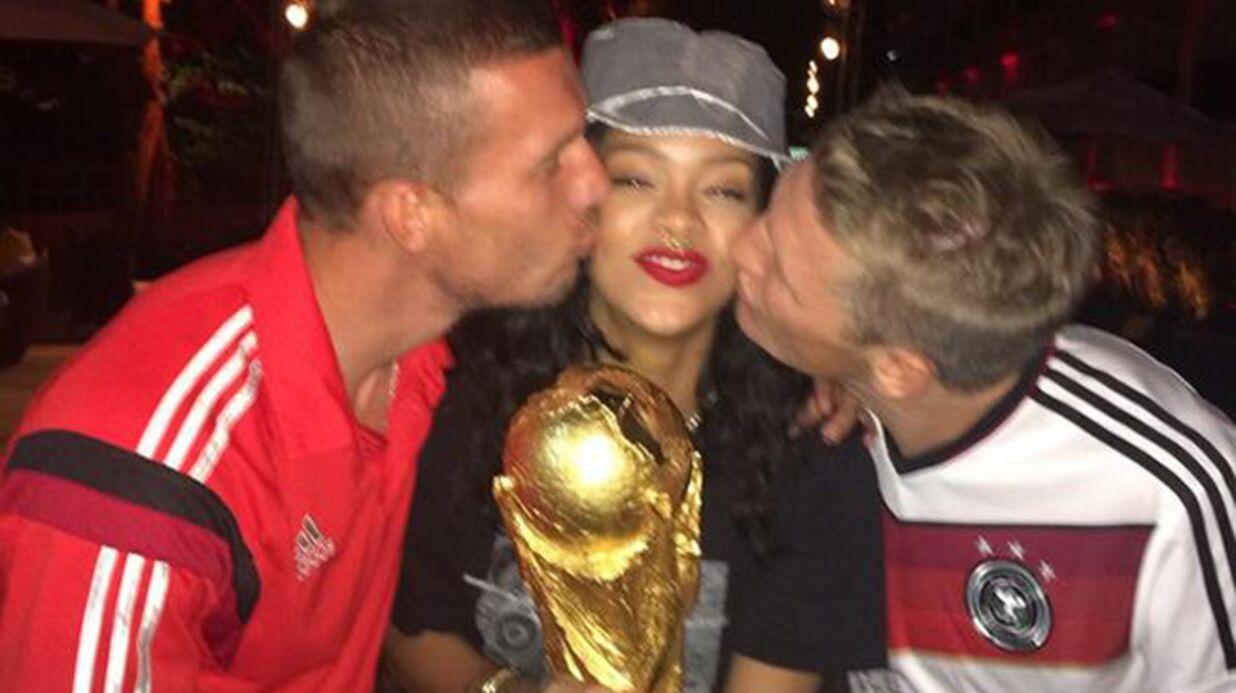 DIAPO Rihanna s'incruste à la fête des joueurs allemands