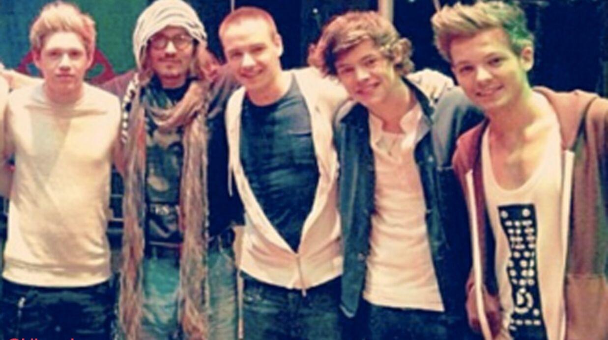 PHOTOS Johnny Depp invite les One Direction pour sa fille