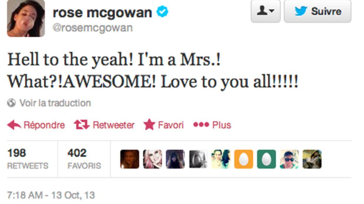 Rose McGowan s'est ENFIN mariée!