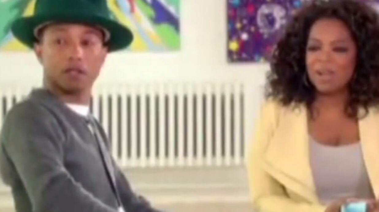 VIDEO Pharrell Williams en larmes devant l'enthousiasme suscité par son titre Happy