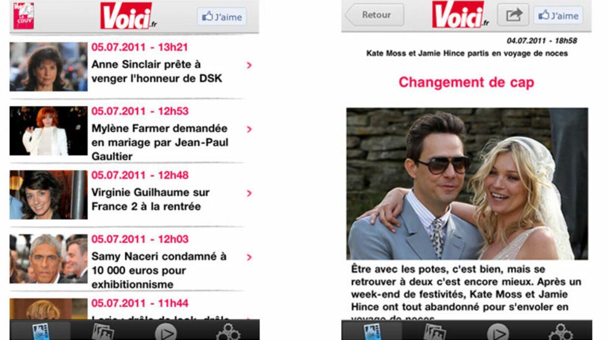 L'appli gratuite Voici.fr est disponible pour iPhone et Androïd