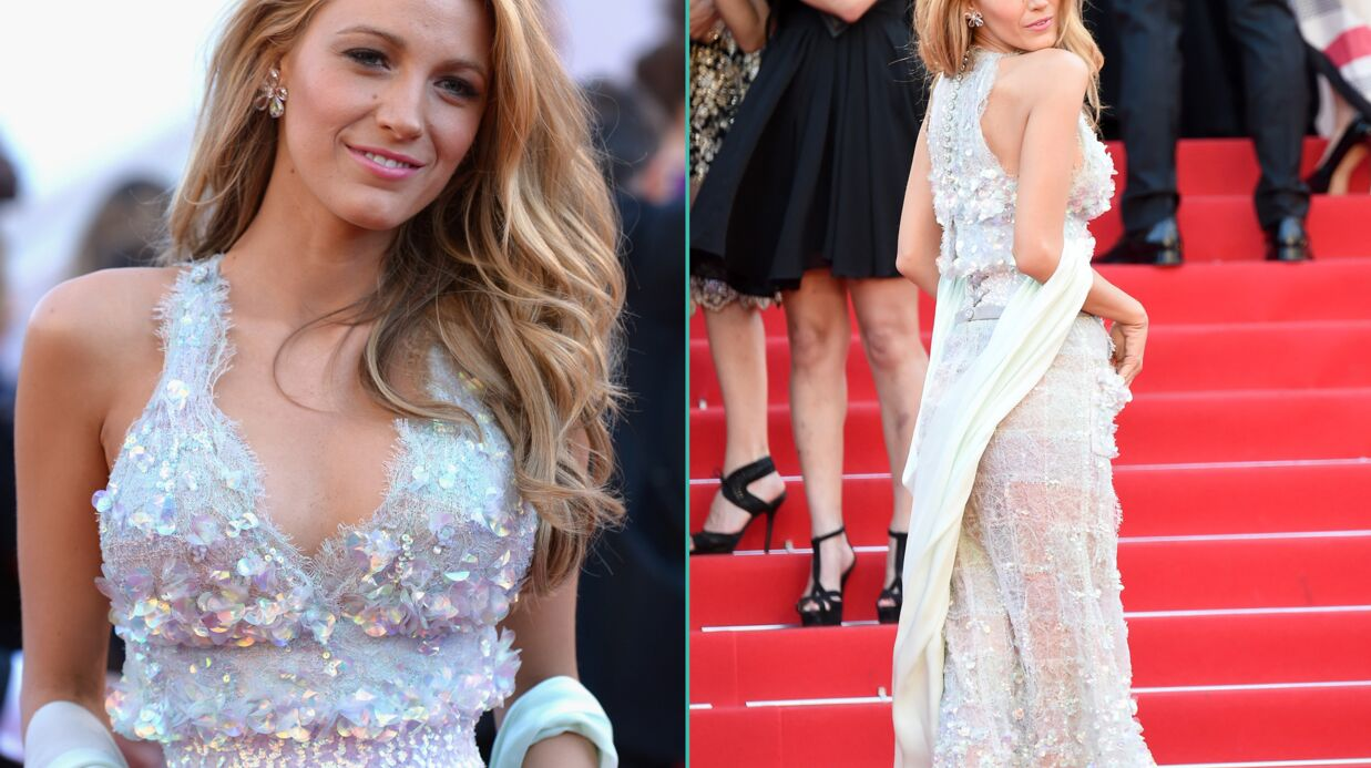 PHOTOS Cannes : Blake Lively et sa robe trans­pa­rente enflamment le tapis rouge