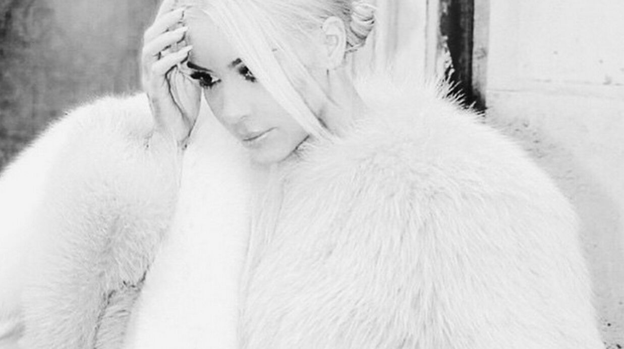 PHOTO Kim Karda­shian s'inspire de la Reine des Neiges pour son look