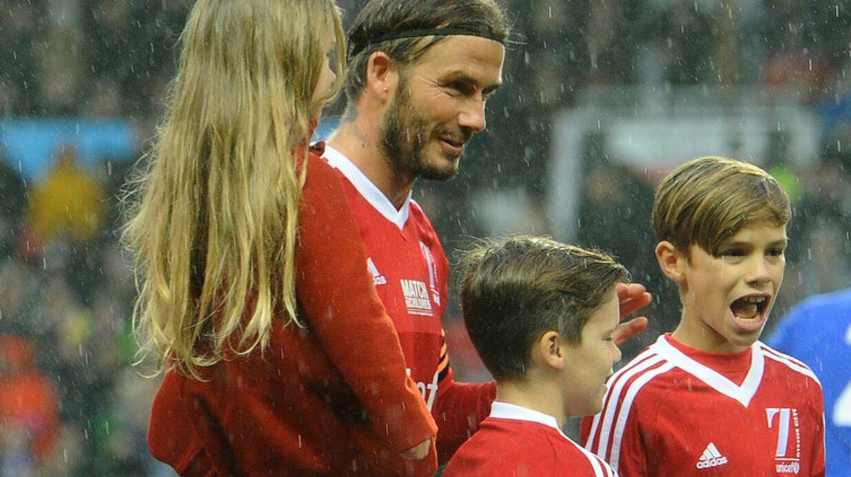 PHOTOS David Beckham: La petite Harper trop chou au match de son père et de son frère Brooklyn