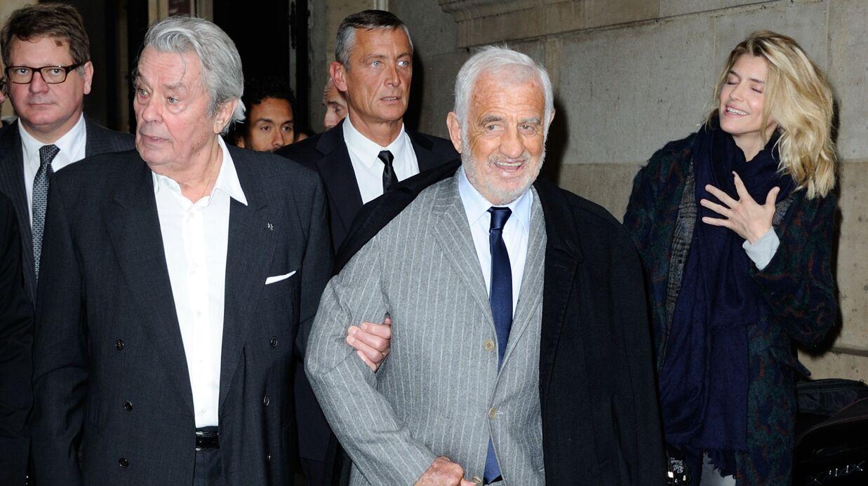 PHOTOS Jean-Paul Belmondo et Alain Delon très complices lors du Prix du Quai des Orfèvres 2017