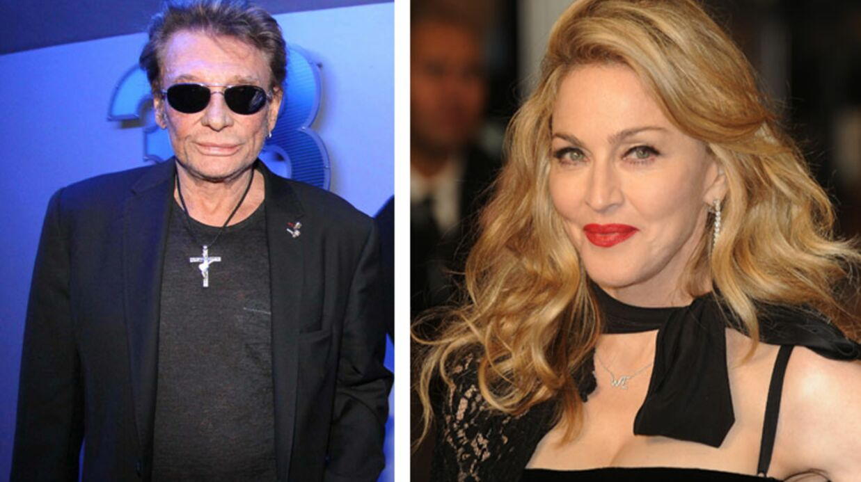 Madonna a voulu rencon­trer Johnny Hally­day à Gstaad