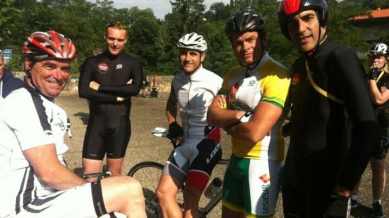 PHOTOS Clovis Cornillac fait son propre Tour de France