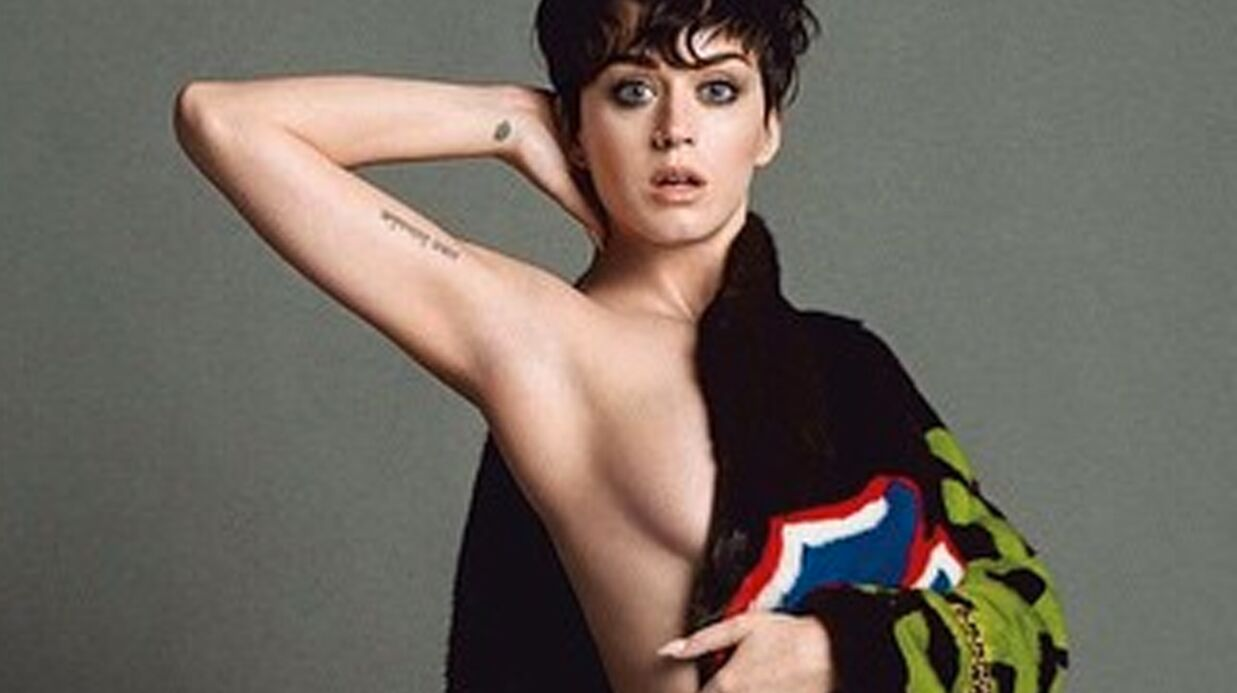PHOTOS Katy Perry se dénude pour Moschino