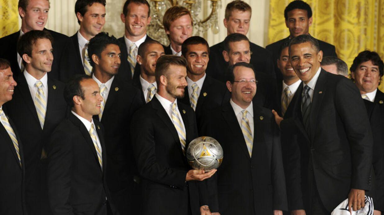 PHOTOS Barack Obama et David Beckham: leur rencontre LOL