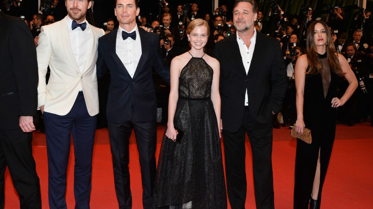 DIAPO Cannes 2016: Ryan Gosling en noeud pap, Russell Crowe très décontract' pour la montée des marches