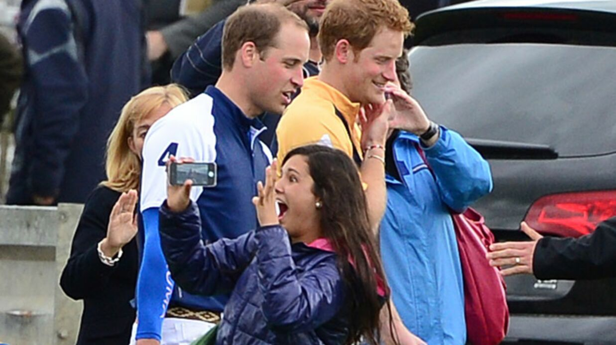 DIAPO William et Harry provoquent l'hys­té­rie d'une fan à un match de polo