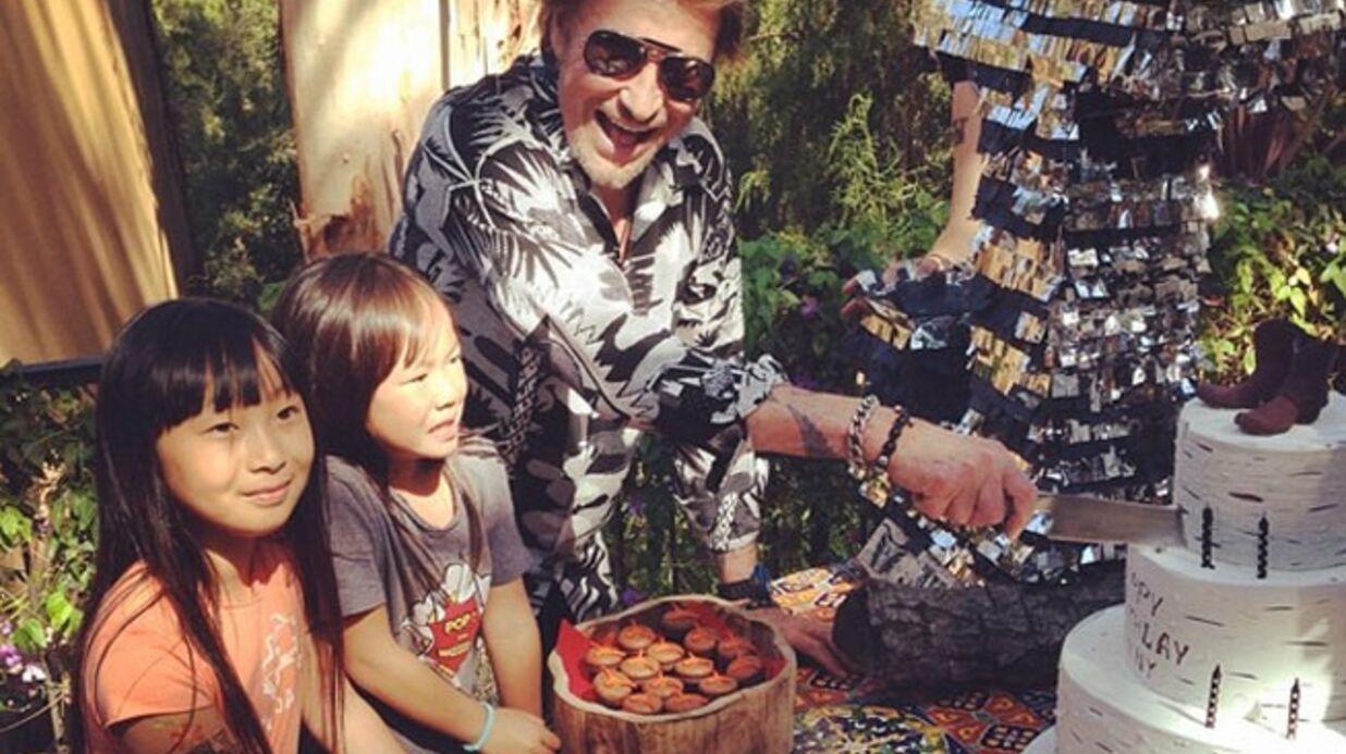 PHOTOS L'anniversaire de Johnny Hallyday avec sa petite famille