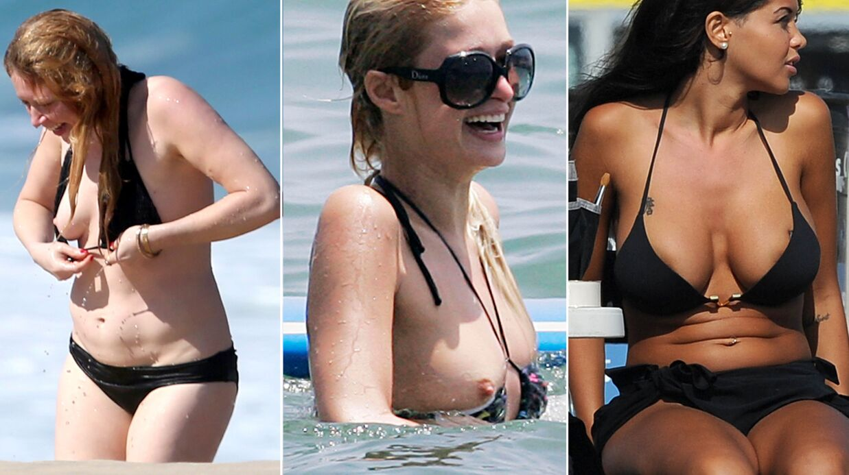 DIAPO Accidents de maillots de bain: oups, les stars ne voulaient pas en montrer tant