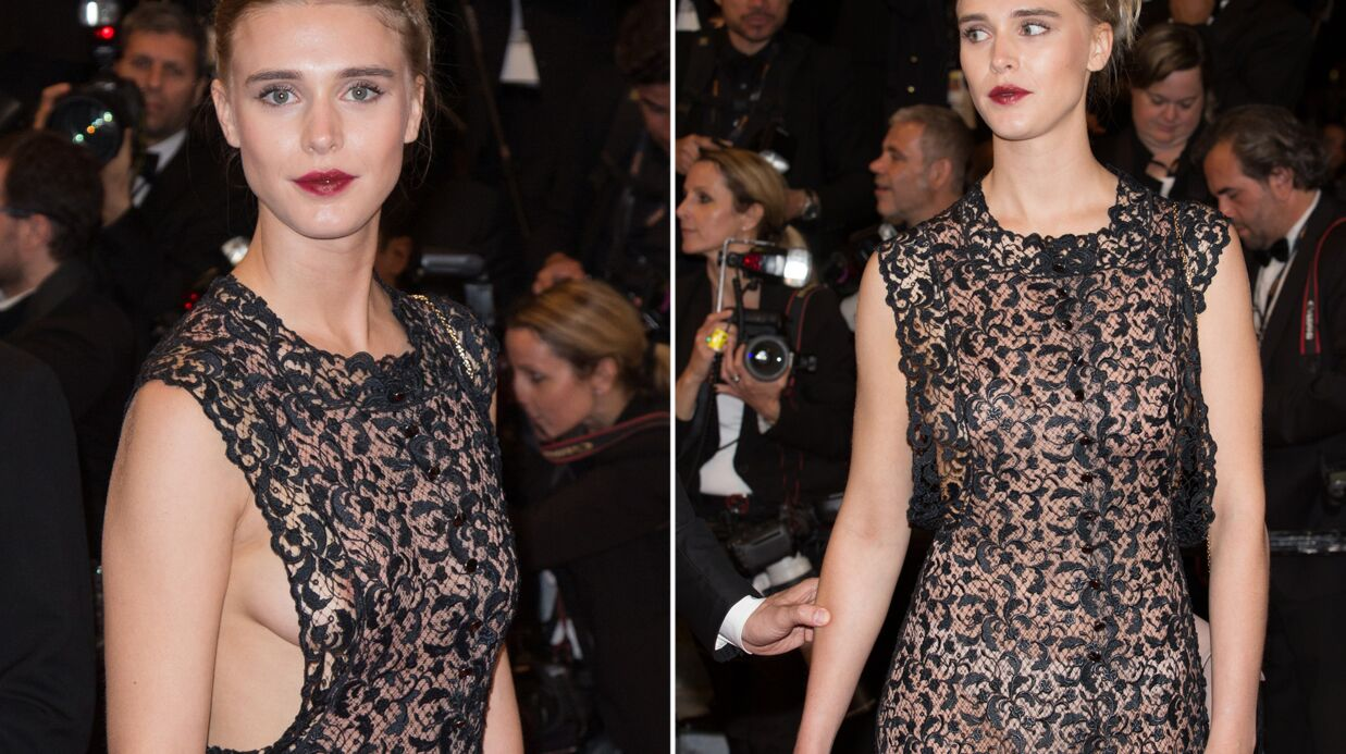 DIAPO Cannes – Gaia Weiss: side boob et transparence, la fausse petite amie de Francis Huster ultra sexy