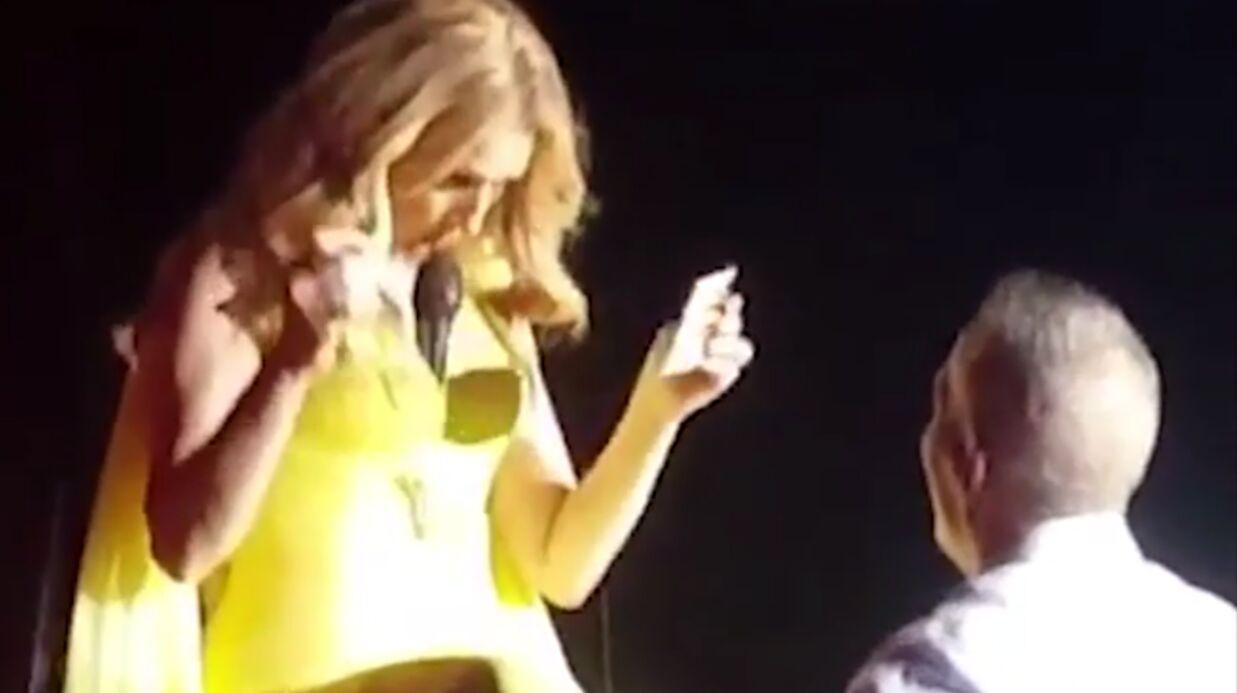 La vidéo hilarante où Céline Dion coince son micro entre ses seins et le tend à un fan