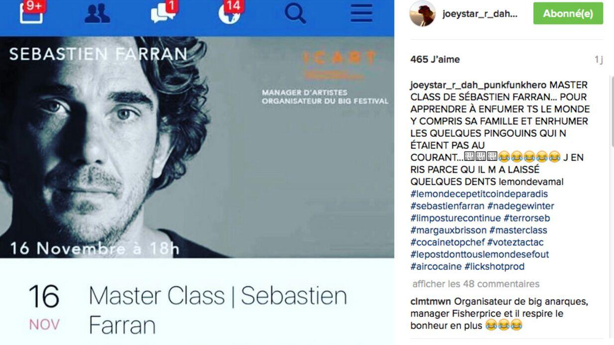 JoeyStarr démonte Sébastien Farran, son ex-manager, aujourd'hui en charge de Johnny Hallyday