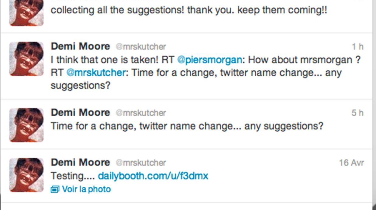 Demi Moore veut changer de nom sur Twitter et appelle à l'aide
