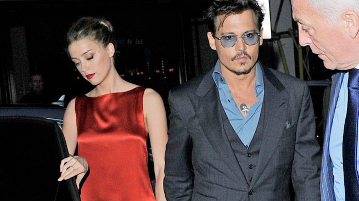 Johnny Depp et Amber Heard sont fiancés!