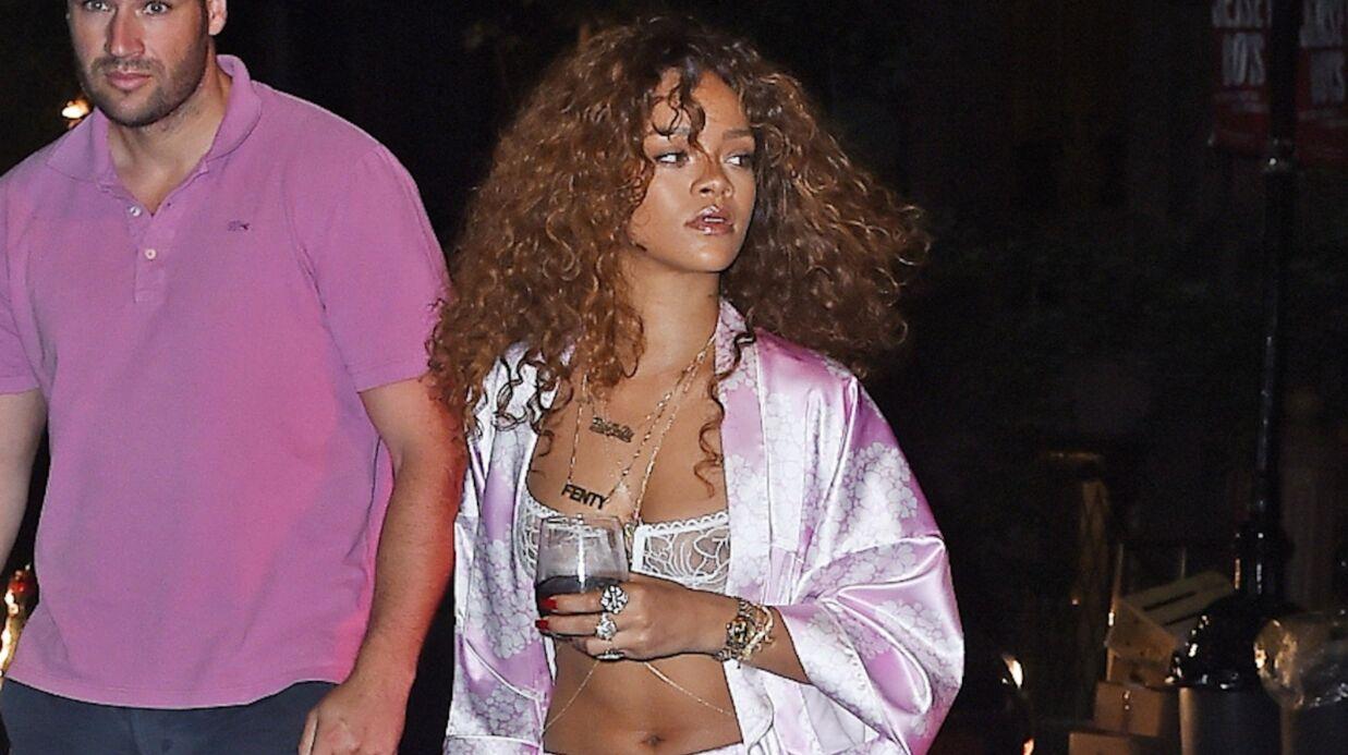 PHOTOS Rihanna: pas le temps de s'habiller pour aller au studio!