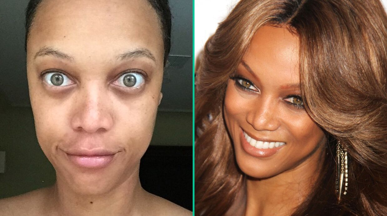 PHOTO Tyra Banks mécon­nais­sable sur un selfie sans maquillage