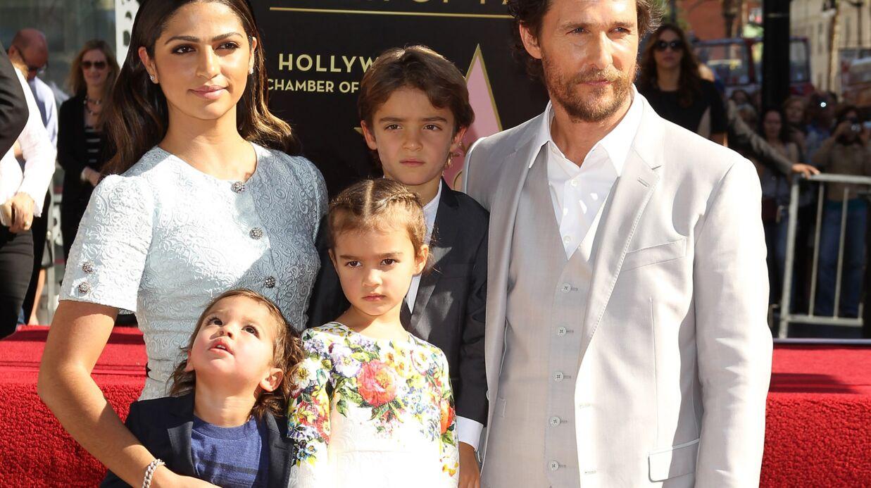Matthew McConaughey entouré de sa famille pour dévoiler son étoile à Hollywood