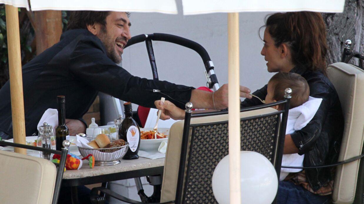 DIAPO Penélope Cruz et Javier Bardem en pause déj avec Leo