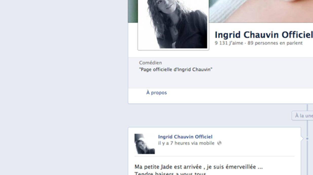 Ingrid Chauvin a accouché!
