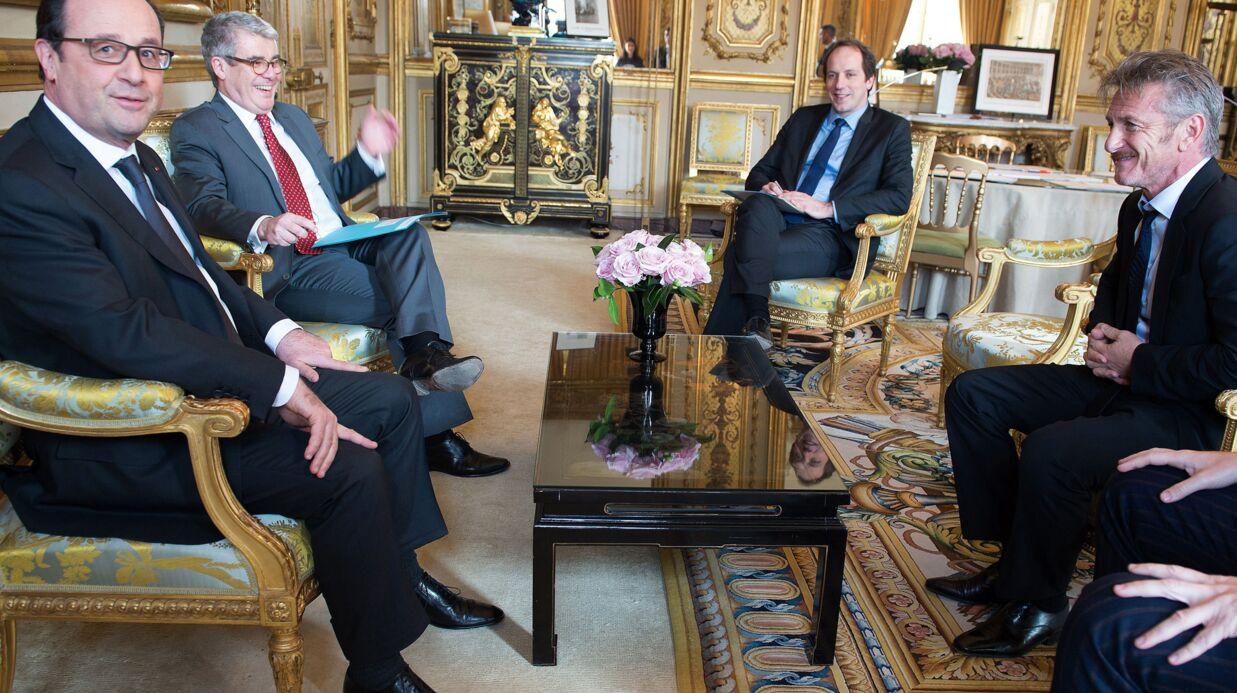 PHOTOS François Hollande rencontre Sean Penn à l'Elysée