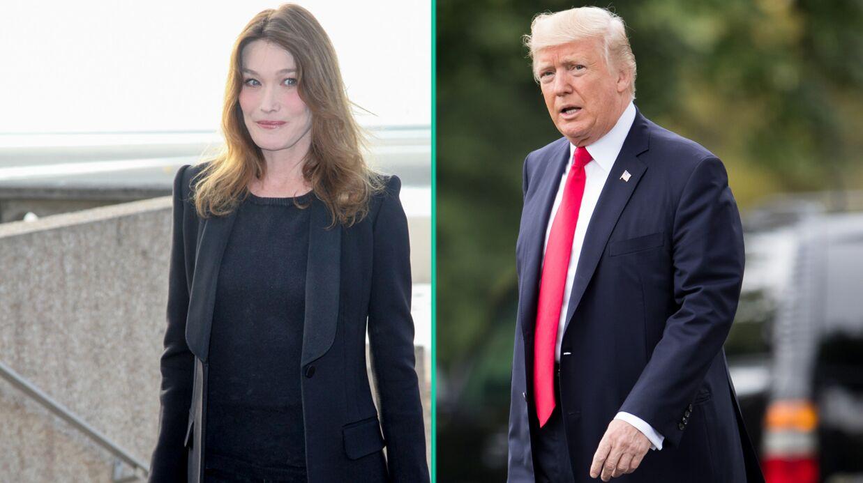 Carla Bruni revient sur les rumeurs de liaison avec Donald Trump