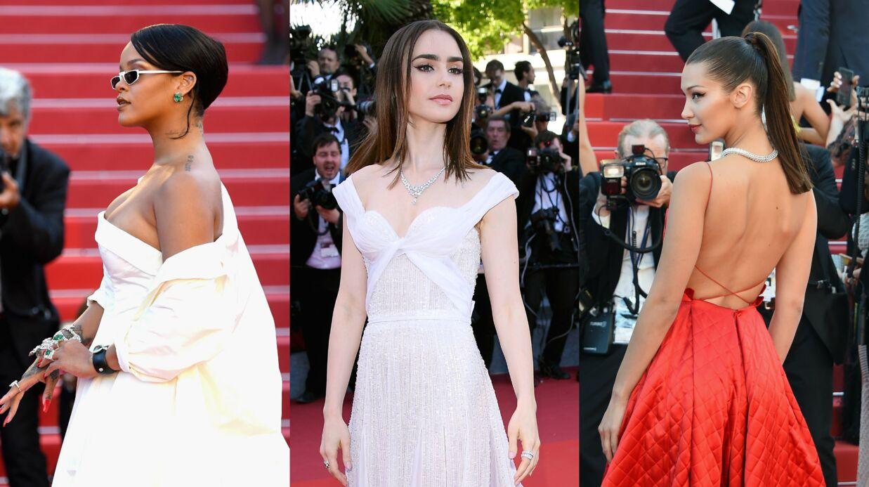 PHOTOS Cannes 2017: Rihanna en robe bustier sexy, dos nu pour Bella Hadid et Lily Collins