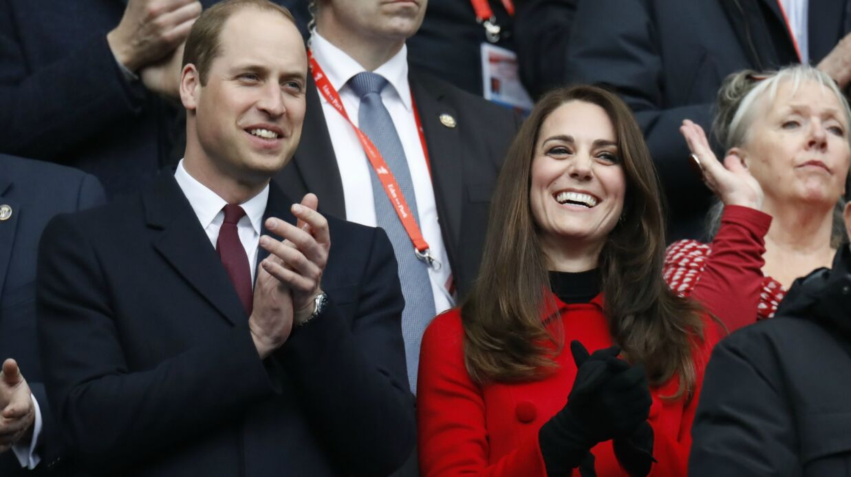DIAPO Kate Midd­le­ton et le prince William en amou­reux au Stade de France
