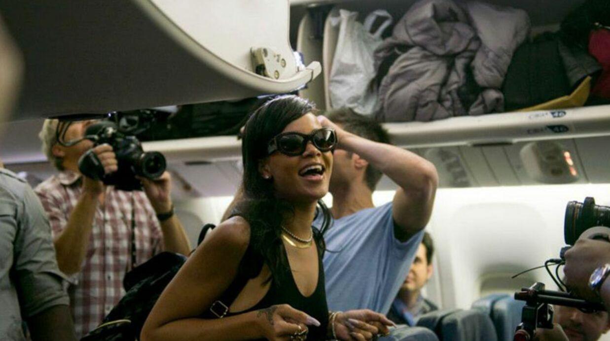 Rihanna: sa tournée en avion vire à l'anarchie