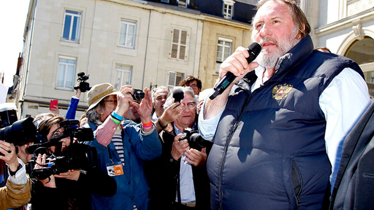 DIAPO Gérard Depardieu: Barbu, il s'est fait remarquer à Saumur ce week-end