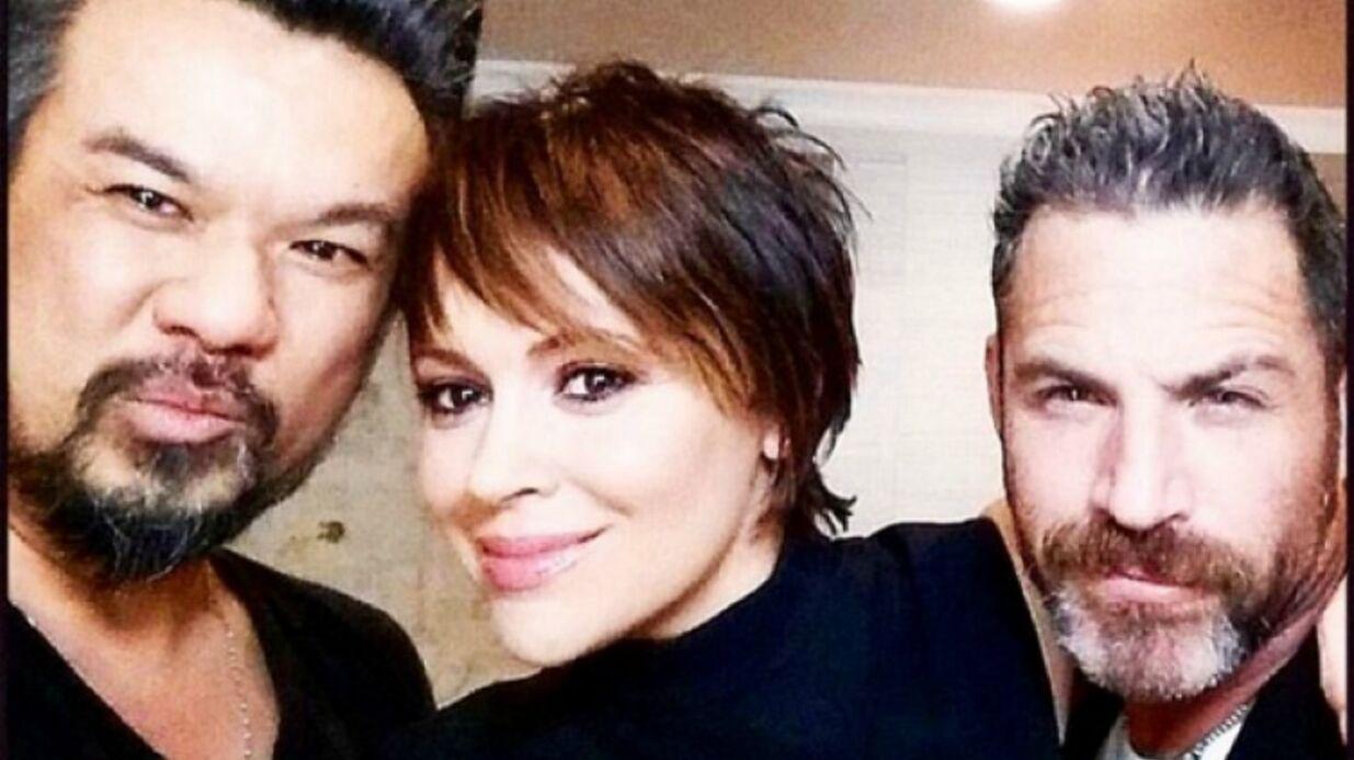Alyssa Milano affiche une nouvelle coupe de cheveux