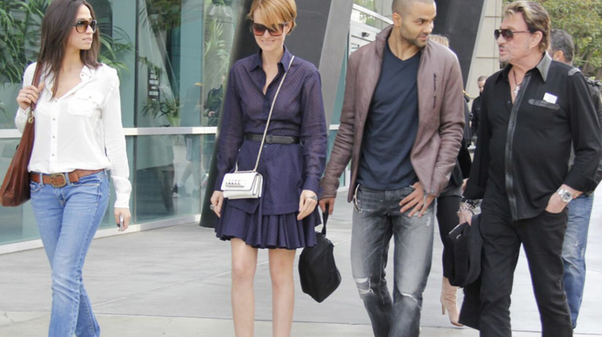 PHOTOS Tony Parker, Johnny Hally­day et leurs compagnes à L.A.