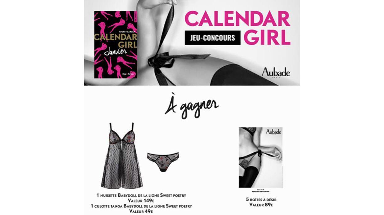 Jeu concours: tentez de gagner une parure Aubade avec Calendar Girl