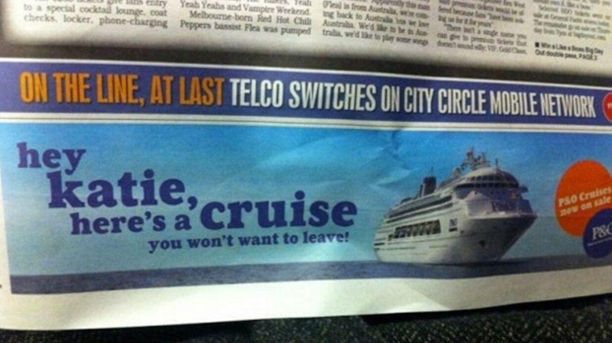 PHOTO Le divorce de Tom Cruise et Katie Holmes inspire une publicité