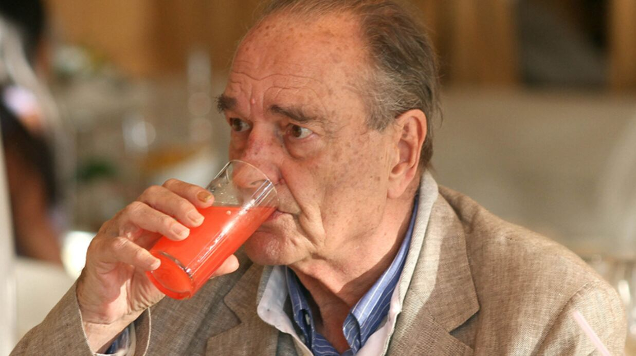 Jacques Chirac en charmante compagnie sur un marché corrézien