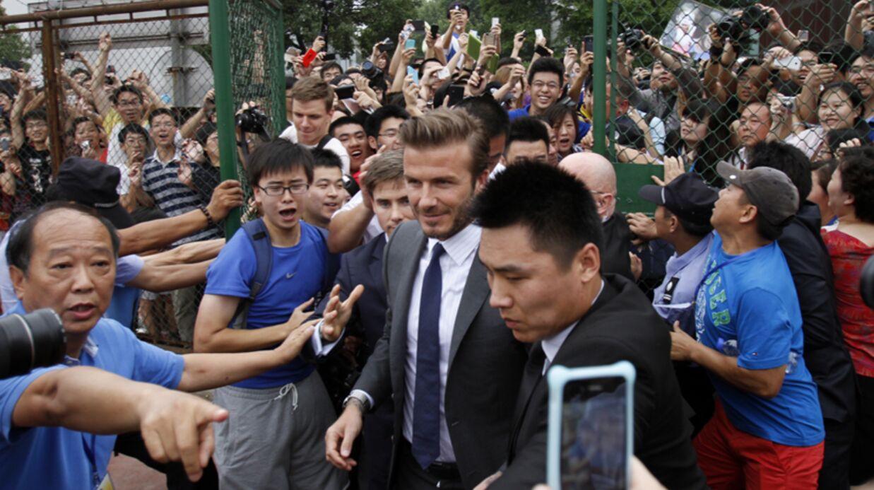 PHOTOS David Beckham crée une émeute en Chine: 7 blessés