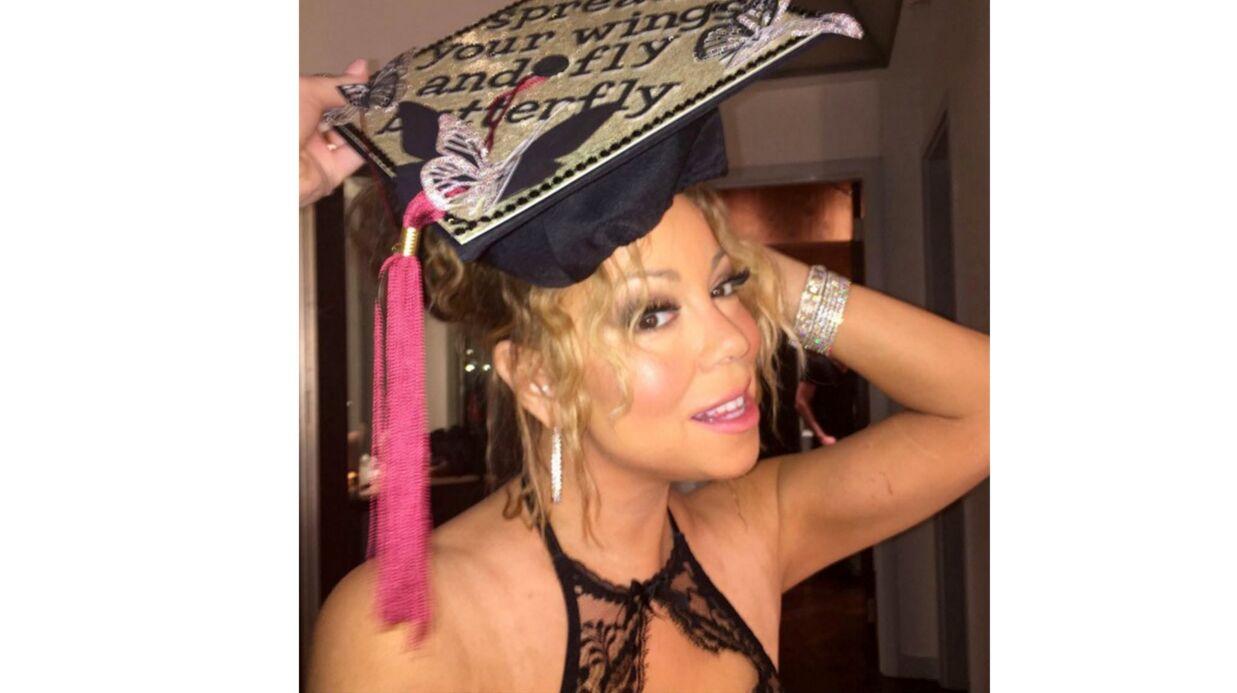 PHOTOS Mariah Carey toujours plus loin dans le sexy, pose en soutien-gorge en dentelle
