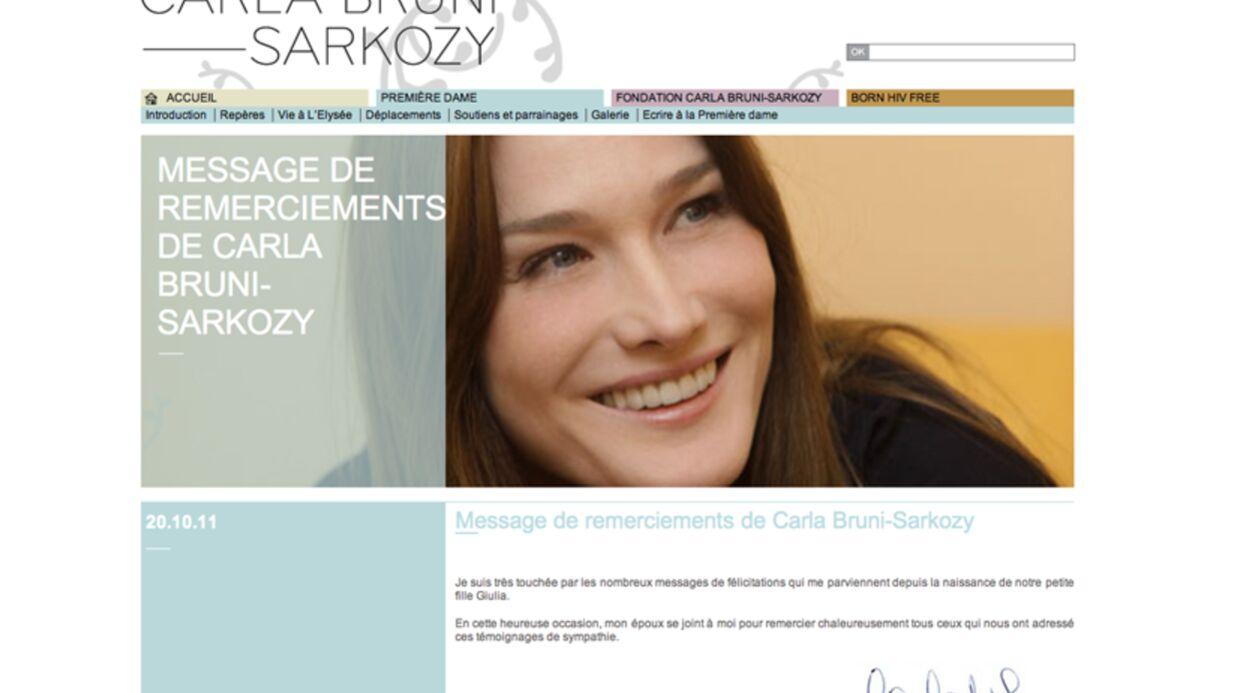Giulia Sarkozy: le prénom de la fille de Carla Bruni et Nicolas Sarkozy révélé (officiel)