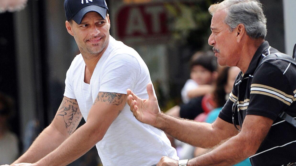 PHOTOS Ricky Martin avec son père et ses fils à New York