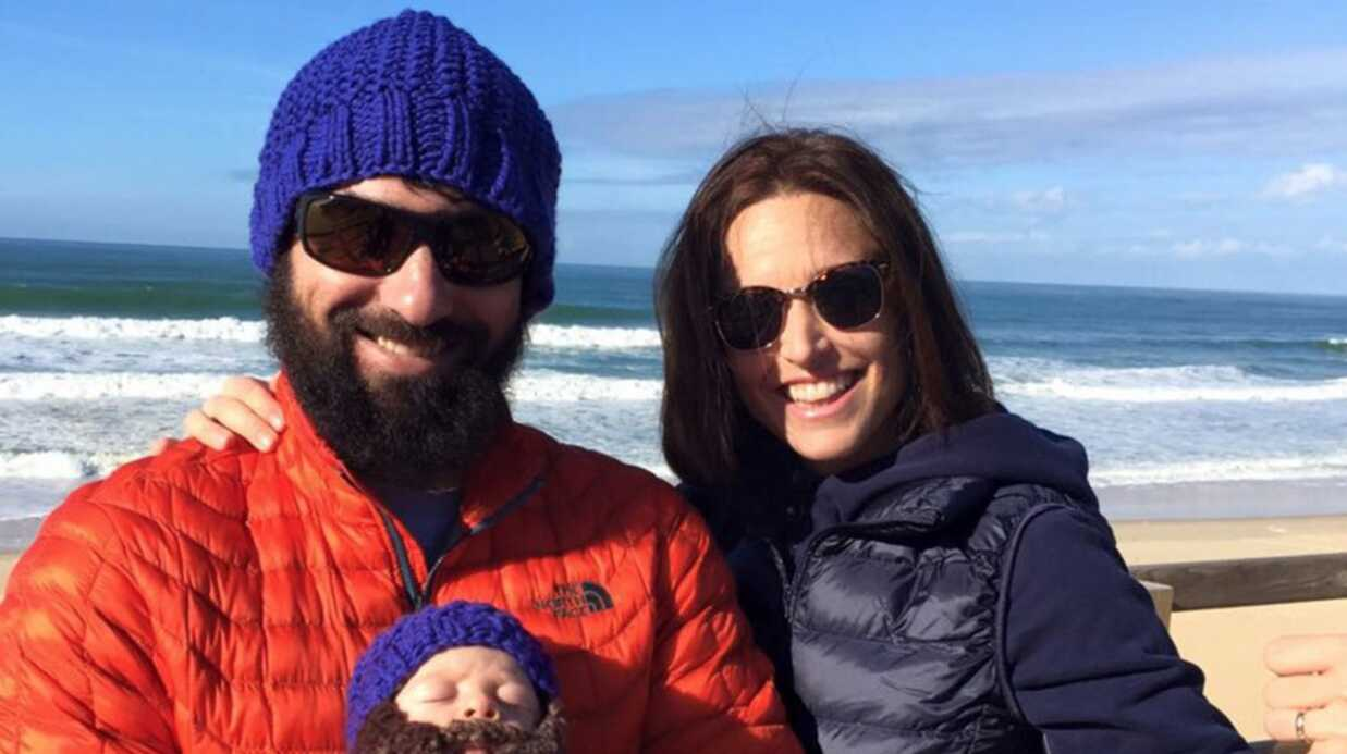 PHOTO Natasha St-Pier et son mari en promenade à la plage avec leur fils Bixente